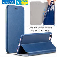 X Level Book Leather TPU Flip Case Cover For IPhone 7 X Level Fibcolor Ultra Thin