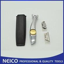 Профессиональный кровельный ковер Акулий нож с Компактная кобура, виниловый напольный нож с 20шт прямыми лезвиями крюк лезвия
