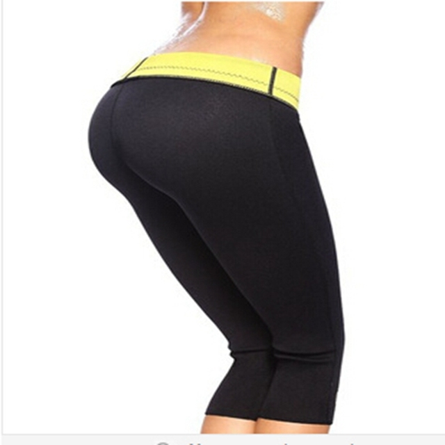 7dc7a1648e super stretch neoprene fitness slimming pants neoprene waist trainer body  shaper Weight Loss fitness sweat shorts women tights
