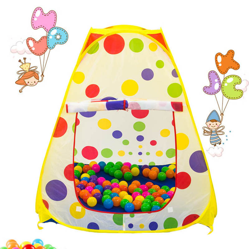 Portable Baby Polka Dot Play Toy Childrens Tents Game Garden House And Outdoor Camp Tent Foldable Sports Tent Gifts Balls Pool
