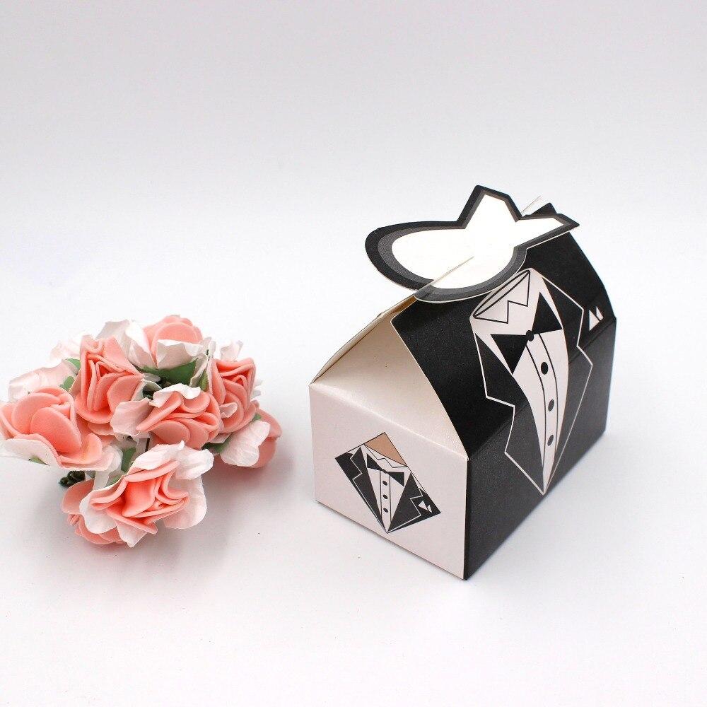 100pc/lot Elegant Candy Box For Wedding Sweet Bag Wedding Favors ...
