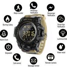 Купить с кэшбэком EX16 Smart Watch Bluetooth Clock Notification Remote Control Pedometer Sport Watch IP67 Waterproof Men's Wristwatch