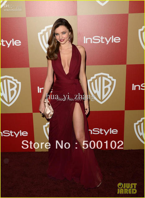 70th Golden Globe awards Red Carpet Dresses Miranda Kerr Party Side Slit  Gown 92b213856