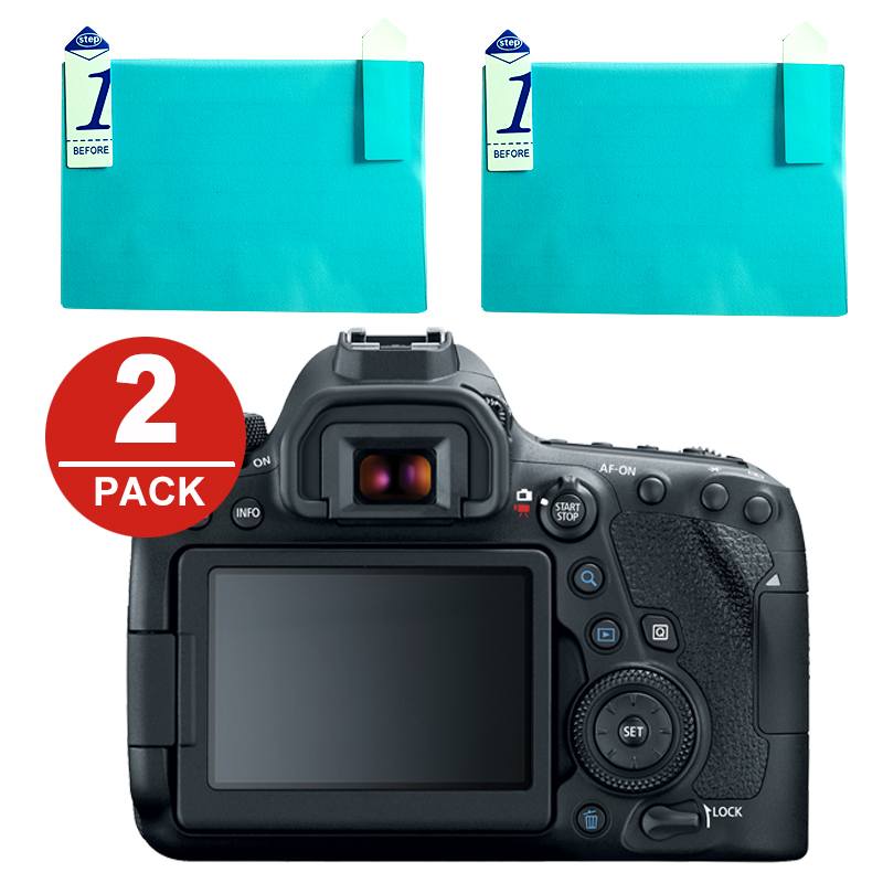 2x LCD Screen Protector Protection Film For Canon EOS 6D 7D Mark II 5D Mark IV III 5D4 5D3 5DS 5DSR 1Dx 1Dc 100D 200D 250D
