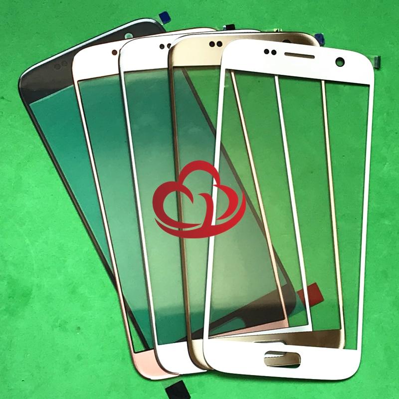 Original Nova Tela LCD Frontal Outer Lente de Vidro Capa de Reposição de Peças Para Samsung Galaxy S7 G930 G930F G930FD Tela Sensível Ao Toque
