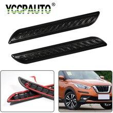 Yccpauto protetor de pára choque de carro, 2 peças, faixa anti colisão, proteção automática para canto, estilização de barras