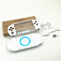 White color shell For PSP 2000 PSP2000 Console Shell Housing Case Cover with buttons kit free shipping
