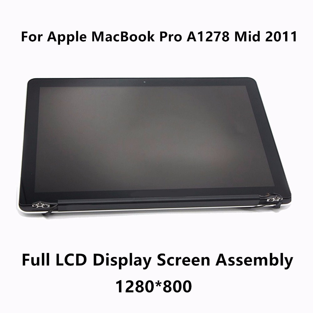New Genuine Full LCD Display Screen Assembly Upper Replacement Parts For Apple MacBook Pro 13 A1278 MC700 Mid 2011 661-5868 original new a1706 a1708 full lcd assembly for apple macbook retina 13 a1706 a1708 2016 lcd screen display assembly grey silver