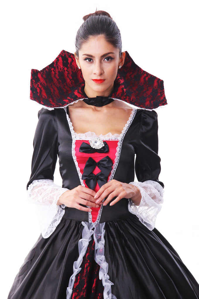 3b0e55db1f77 ... Female Vampire Zombie Costume Halloween Ghost Bride Masquerade Party  Costumes Dress Women Witch Queen Halloween Cosplay ...