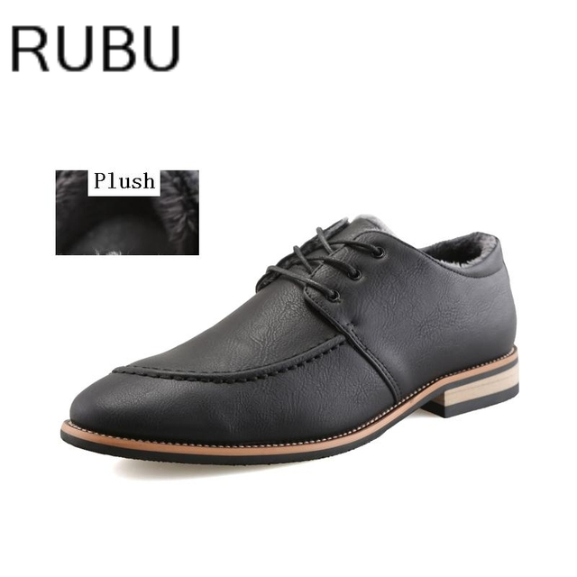 Winter Plush Men S Shoes Hot Leather Dress 2017 Fashion Groom Wedding Shoe Business Lace
