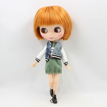 Factory Neo Blythe Male Doll Orange Short Hair Jointed Body 30cm