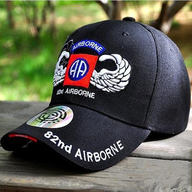 30561190a79 New 82nd Airborne Division US Army Cap Mens Baseball Caps Brand Air Force  Tactical Cap Bone Snapback Men Trucker Hat