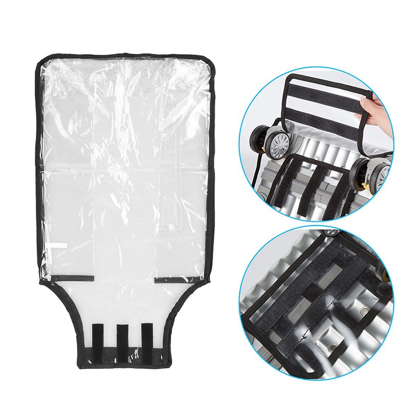 Breathable Rain Covers transparent  PVC Waterproof  Dustproof Clear  Suitcase Cover Case 13-30'' Protective Travel Luggage