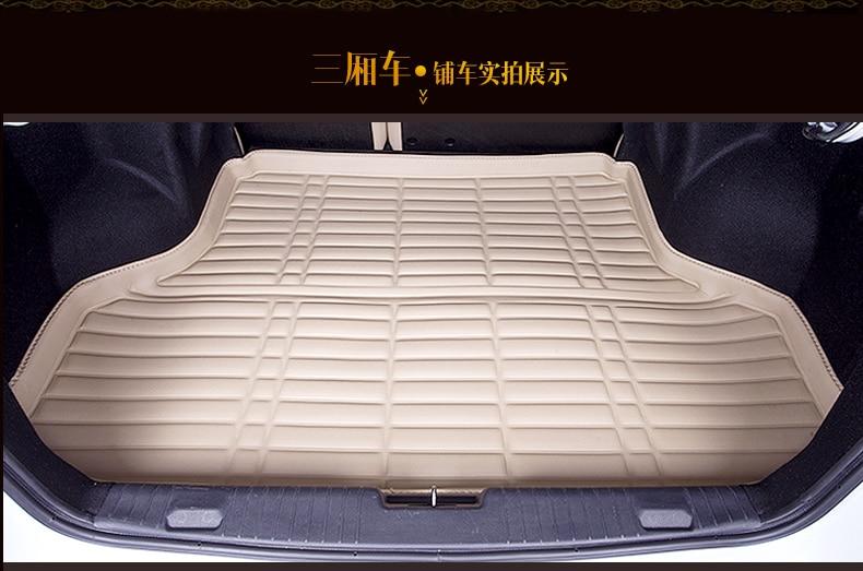 car trunk mat for Suzuki Auto Swift Liana3 wagon Liana2 Sedan Jimny GRAND VITARA leather case pad free shipping waterproof cream for honda jazz trunk tray mat tpo waterproof anti slip car trunk carpet luggage cover black