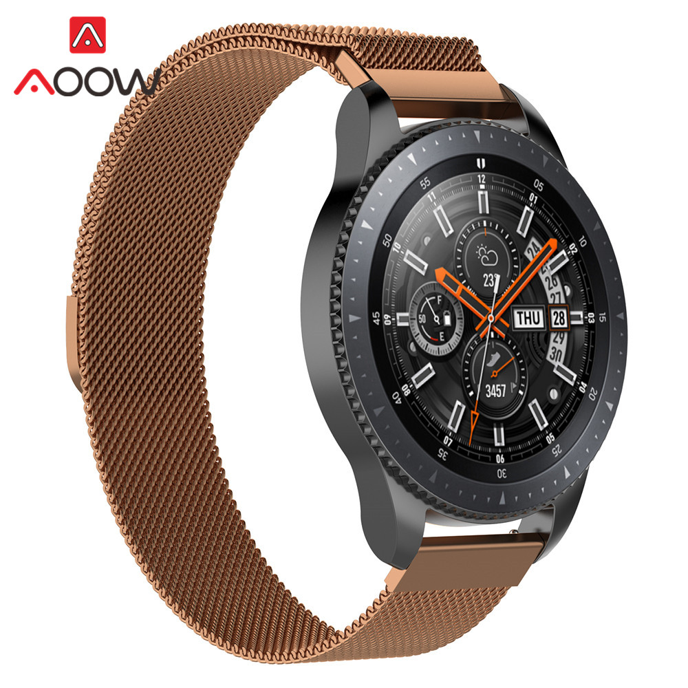 20mm 22mm Milanese Loop For Samsung Galaxy Watch 42mm 46mm Magnetic