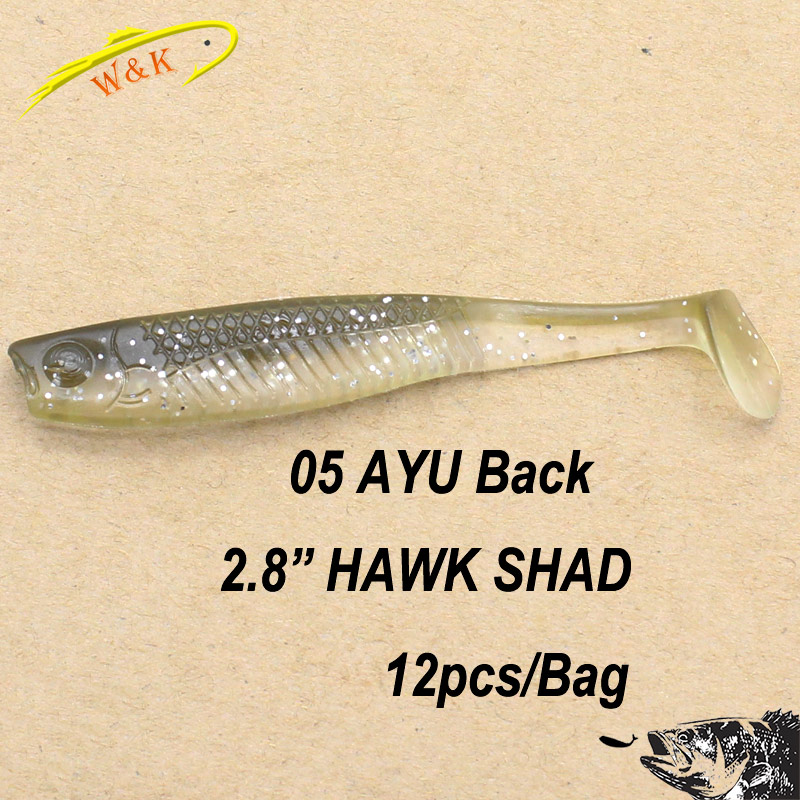 Hot-Sale Soft Fishing Lures at 2 8 inch Freshwater Fishing Bait Texas Rig  Soft Bait Pick Perch Zander Bass Fishing Lures 12 pcs