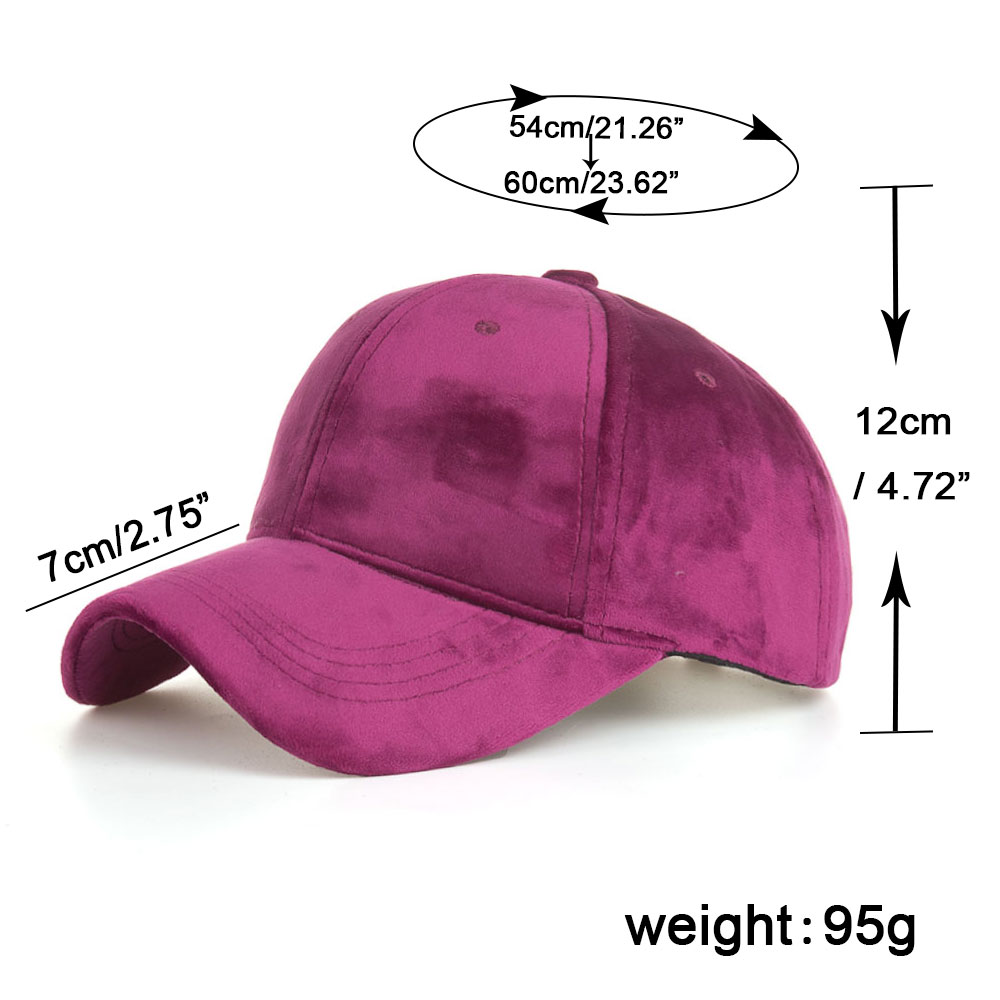 83cf11827a7 Details about Cute Baseball Cap Unisex Fashion Velvet Snapback Hats for Men  Women by AKIZON