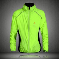 WOSAWE Tour De France Light Weight Breathable Green Cycling Coat Jacket Bike Windbreaker Reflective Jersey Bicycle
