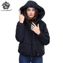 hydiber New Arrival Women Winter Short Black Hooded Parkass Ladies 2017 Warm Autumn outwear White Girls Tops Basic Jacket Coats