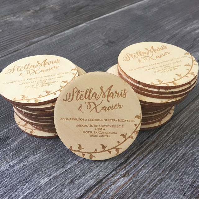 2017 new wooden save the date magnets rustic wooden magnets