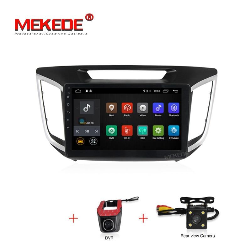 Livraison gratuite android 7.1 voiture dvd gps lecteur Pour HYUNDAI IX25 CRETA voiture dvd gps navigation raido vidéo audio lecteur voiture 1 din