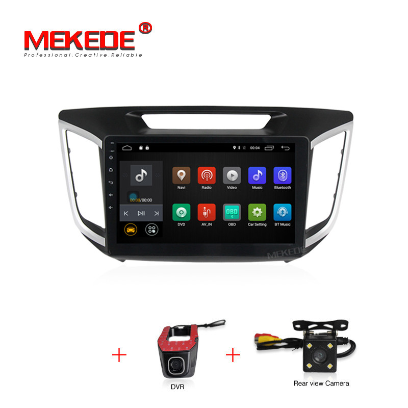 free shipping android 7.1 car dvd gps player For HYUNDAI IX25 CRETA car dvd gps navigation raido video audio player car 1 din