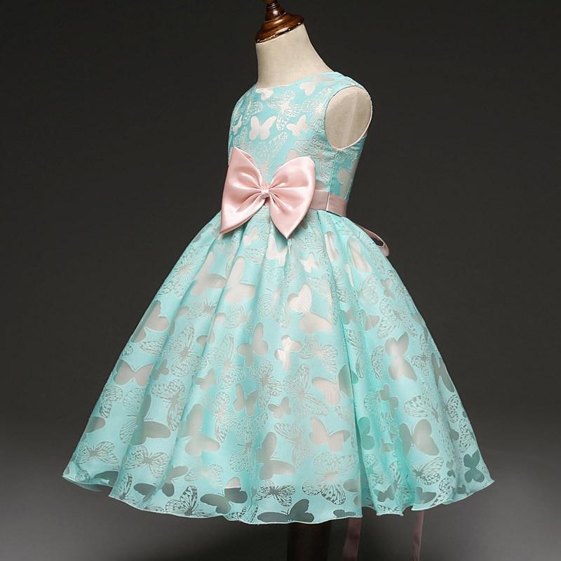 Fancy Butterfly Kid Girl Wedding Flower Girls Dress Princess Party Pageant Formal Dress Prom Little Baby Girl Birthday Dress E33