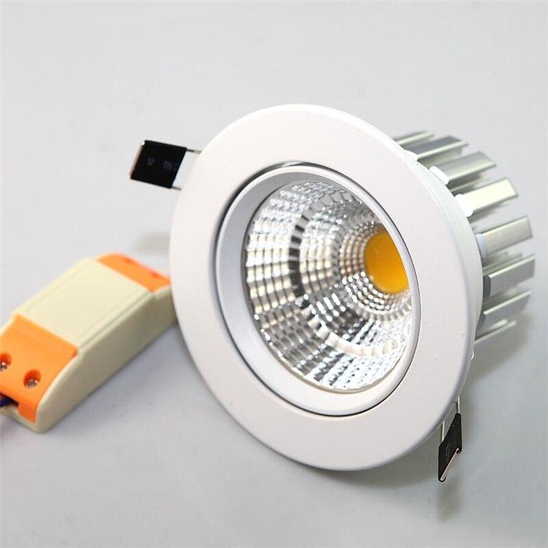 12 Вт COB чип светильник Встраиваемый светодиодный потолочный пятно света лампы белый/теплый белый светодиодные лампы Epistar