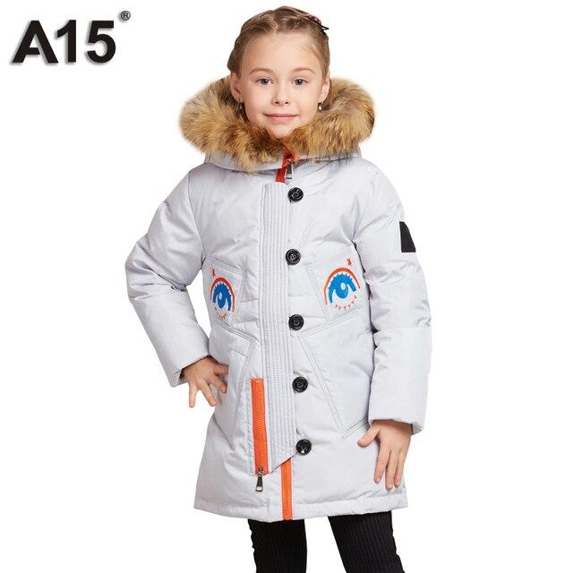 0623eacf113d A15 Winter Coat Girls Hooded Fur Kids Girls Down Jacket for Girl ...