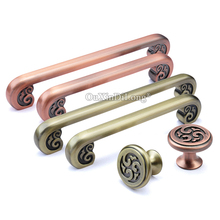 цены European Elegant 2PCS Retro Kitchen Cabinet Door Handles Cupboard Wardrobe Drawer Dresser Wine Cabinet Pulls Handles and Knobs