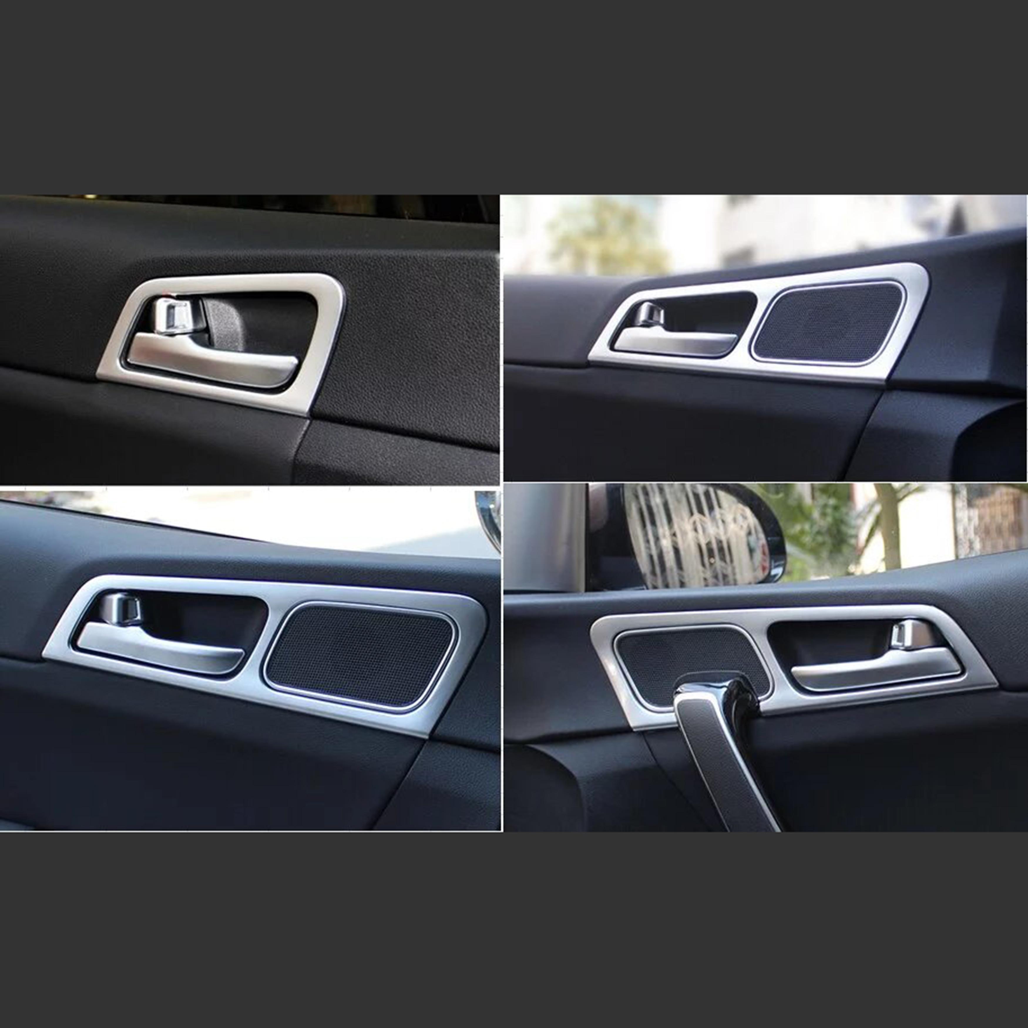 Pour Kia Sportage Kx5 2015-2018 voiture porte accoudoir panneau couverture voiture fenêtre garniture Chrome plaqué 4 pièces style
