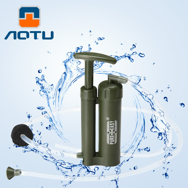 Outdoor Portable Mini ABS Plastic Water Filter Purifier Cleaner Wild Drinking Safety Survival Hiking Pressure emergency Purifier