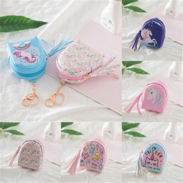 2018 New And Creative Fashion Women Mini Flower Coin Bag Unicorn Wallet Hand Pouch Purse Hot