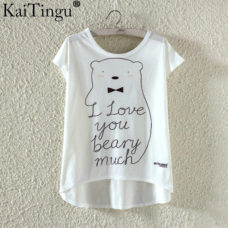 HTB1u FkPXXXXXbXXpXXq6xXFXXXa - Kawaii Cute T Shirt Harajuku High Low Style Cat Print