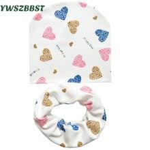 22bcc1d183a Bayi Topi Bayi Topi Katun Syal Bayi Beanies Cinta Jantung Cetak Musim Semi  Musim Gugur Anak