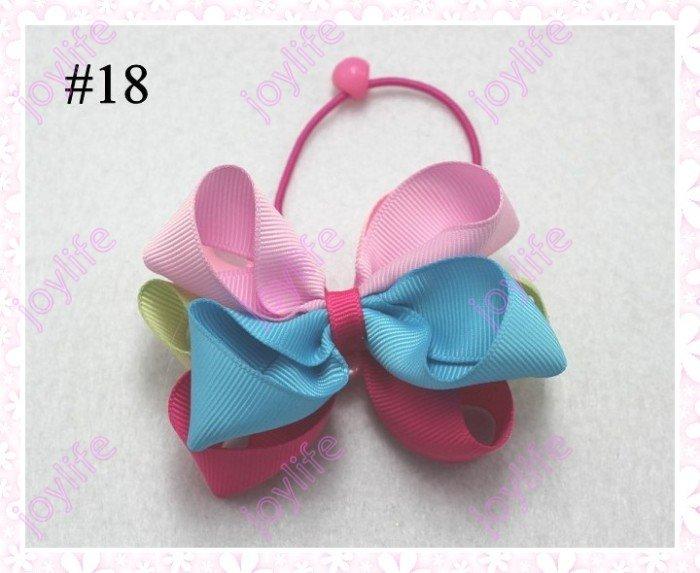 Новинка года, разноцветные, 45 шт., 3,5 дюйма, цветные, с хвостом, банты, модный бант для волос для девочек, клипсы