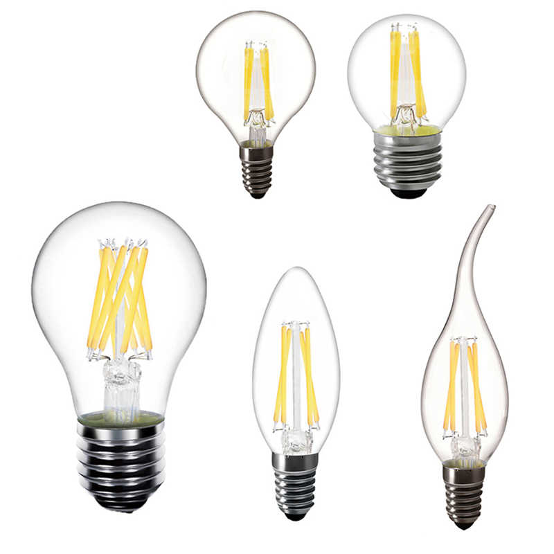 Led Candle Light Bulb E27 Led Bulb E14 LED Filament Bulb Chandelier 230V Vintage Filament Lamp Replace 20W 30W 40W Incandescent