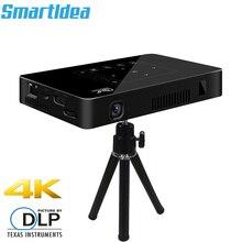 Smartldea P10 мини интеллектуальный проектор DLP мобильных устройств android Проектор Wi-Fi bluetooth 4 K Встроенный аккумулятор сенсорные клавиши трансляция Miracast DLNA