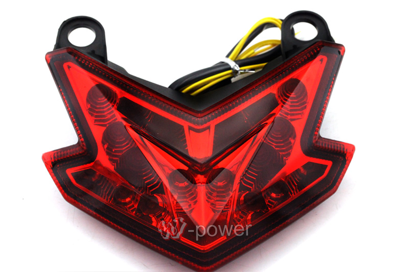 ФОТО For KAWASAKI Z800 2013-2014 ZX-6R 13-14 Motorcycle Accessories Integrated LED Tail Light Turn signal Blinker Red High Quality