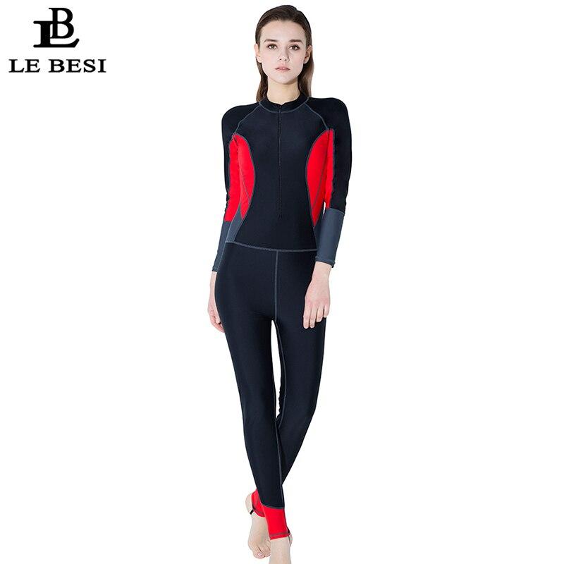 LEBESI New Women's Professional One Piece Swimsuit Sports Surfing Swimwear Long Sleeve Pants Beachwear Plus Size Bathingsuit