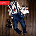 Mens Slim Straight Jeans Denim Overalls Distressed SuspenPants Male Slim Denim Distressed Jeans Ripped Bib Overalls for Mens 270