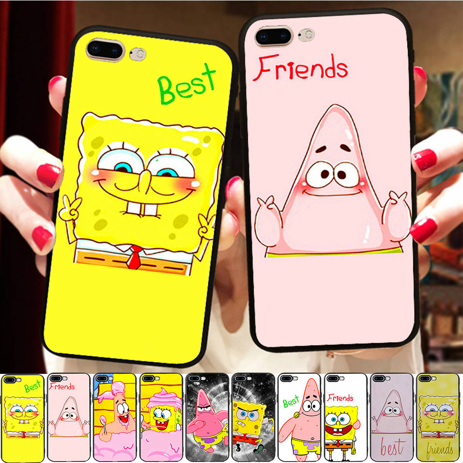 Funny Best Friends <font><b>Case</b></font> For <font><b>iPhone</b></font> X 8 7 6S 6 5 5S XR XS Max <font><b>BFF</b></font> Cover Soft Silicone Phone Fundas Capinha image