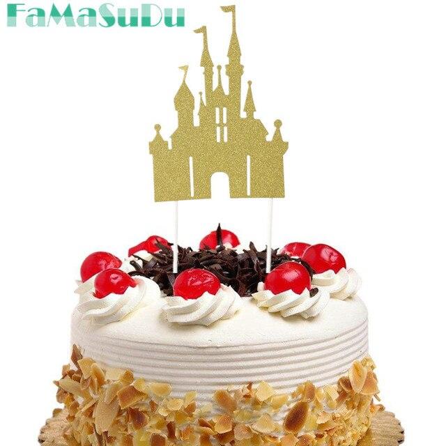 3 Stucke Schloss Cupcake Glitter Gold Kuchen Topper Kreative Kuchen