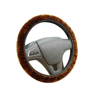 Image 5 - Soft Plush Car DIY Steering Wheel Cover Braid On The Steering wheel Winter Warm Covers Car Styling Interior  Accessories