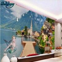 Beibehang Human Wonderland Green Seductive Background Wall Custom Wallpaper Mural Decoration