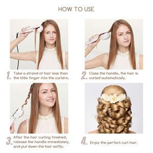 Image 5 - Nowy ekran LCD automatyczne kobiety lokówka do włosów grzejnik ceramiczny fala narzędzia do stylizacji włosów pielęgnacja włosów Curl magiczne loki żelazny fryzjer