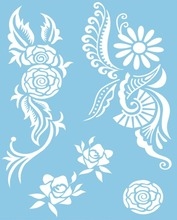 White Lace Tattoos Body Jewelry Temporary Tattoos Stickers Flash Tattoo Style Body Art Flower Type Sexy