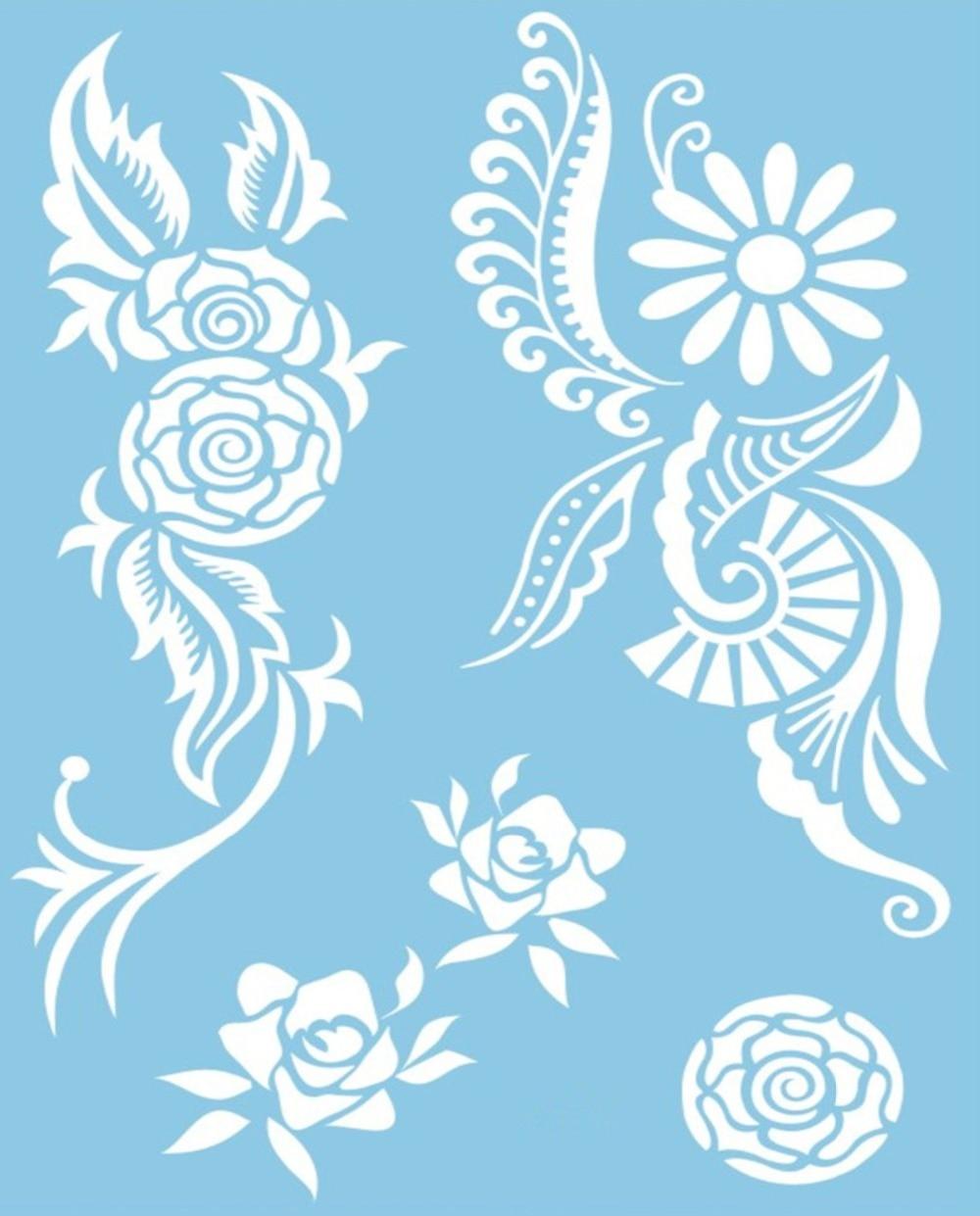 White Lace Tattoos Body Jewelry Temporary Tattoos Stickers Flash Tattoo font b Style b font Body