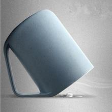 Wheat Plastic Mug Cup Platycodon creative oblique mouth non-toxic design Lovers Wash 30 degree angle Hygiene