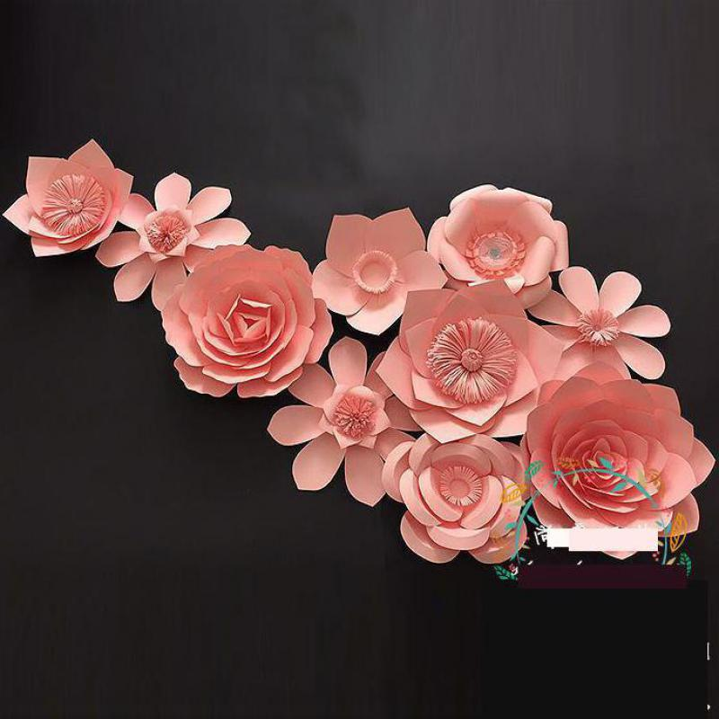 Giant Paper Flowers Sets For Wedding Backdrops Decorations For Event Wall Windows Display Girls' Room 5 Differents Sets Option